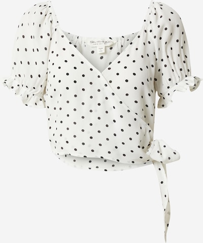 Miss Selfridge Shirt 'SPOT WRAP CROP' in creme, Produktansicht