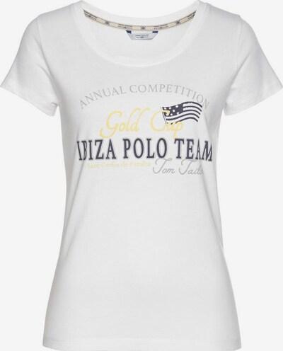 Tom Tailor Polo Team Polo Team Rundhalsshirt in weiß, Produktansicht