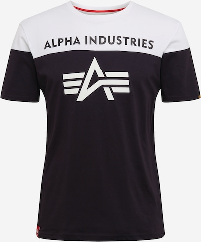 ALPHA INDUSTRIES Shirt in schwarz / weiß, Produktansicht