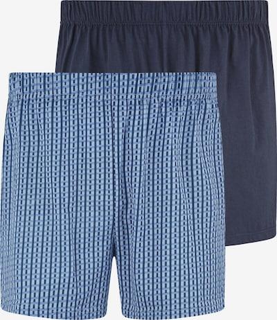 Jan Vanderstorm Boxershorts 'Gunter' in de kleur Navy / Lichtblauw, Productweergave