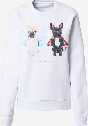 EINSTEIN & NEWTON Sweatshirt 'Good Dogs Sweatshirt Klara Geist' in de kleur Gemengde kleuren / Wit, Productweergave