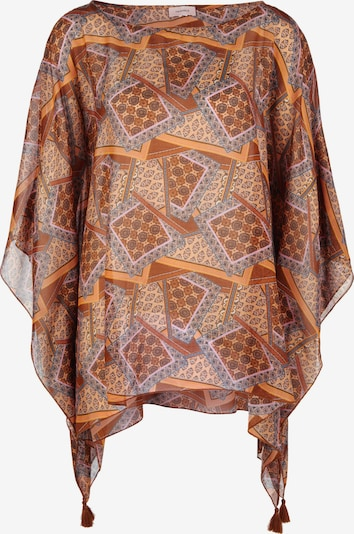 TRIANGLE Poncho in mischfarben / orange, Produktansicht