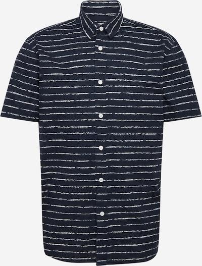 minimum Košile 'Manaus' - tmavě modrá / bílá: Pohled zepředu