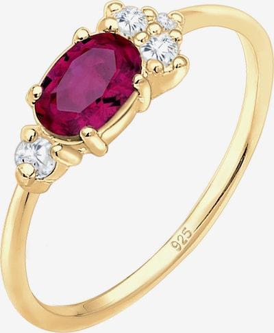 ELLI PREMIUM Verlobungsring mit Edelstein in gold, Produktansicht