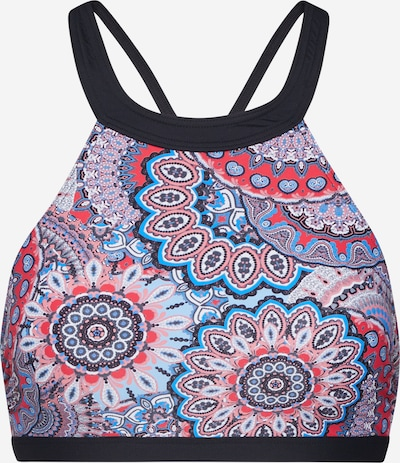 ESPRIT Bikinitop 'MALDIVES BEACH' in hellblau / grau / altrosa / schwarz / weiß, Produktansicht