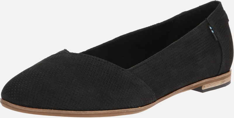 TOMS Slipper 'JULIE' in schwarz: Frontalansicht