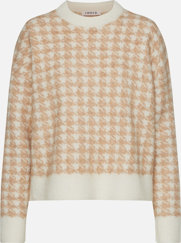 EDITED Pullover 'Tori' in creme: Frontalansicht
