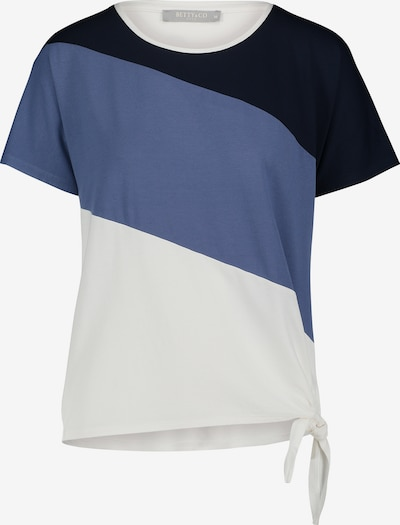 Betty & Co Casual-Shirt kurzarm in blau / weiß, Produktansicht