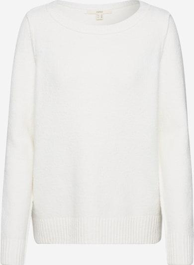 ESPRIT Trui 'slubseaming sweater' in de kleur Offwhite, Productweergave