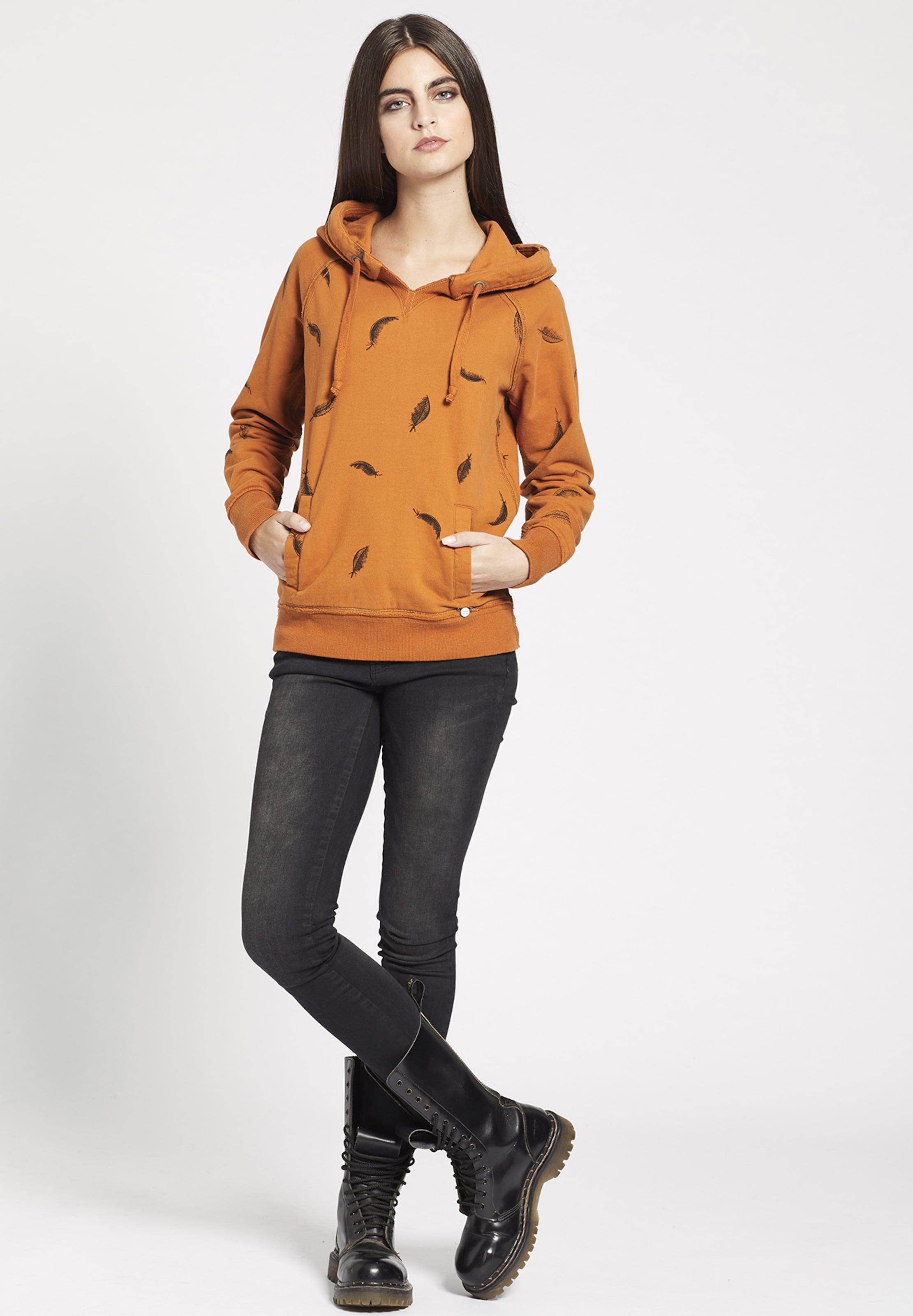 En Orange shirt With 'jolante Sweat Khujo Print' MVSpzU