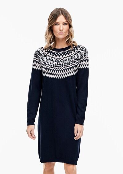 s.Oliver Kleid in nachtblau / puder / weiß, Modelansicht