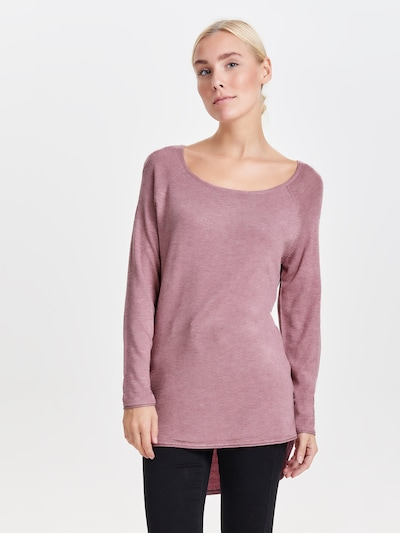 ONLY Pullover 'Mila' in rosé: Frontalansicht