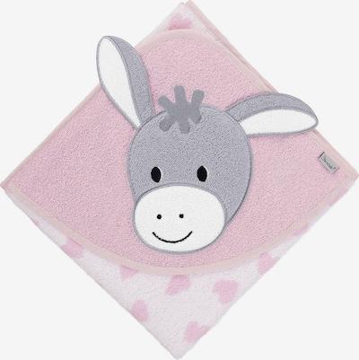 STERNTALER Badetuch 'Emmi' in grau / hellpink / weiß, Produktansicht