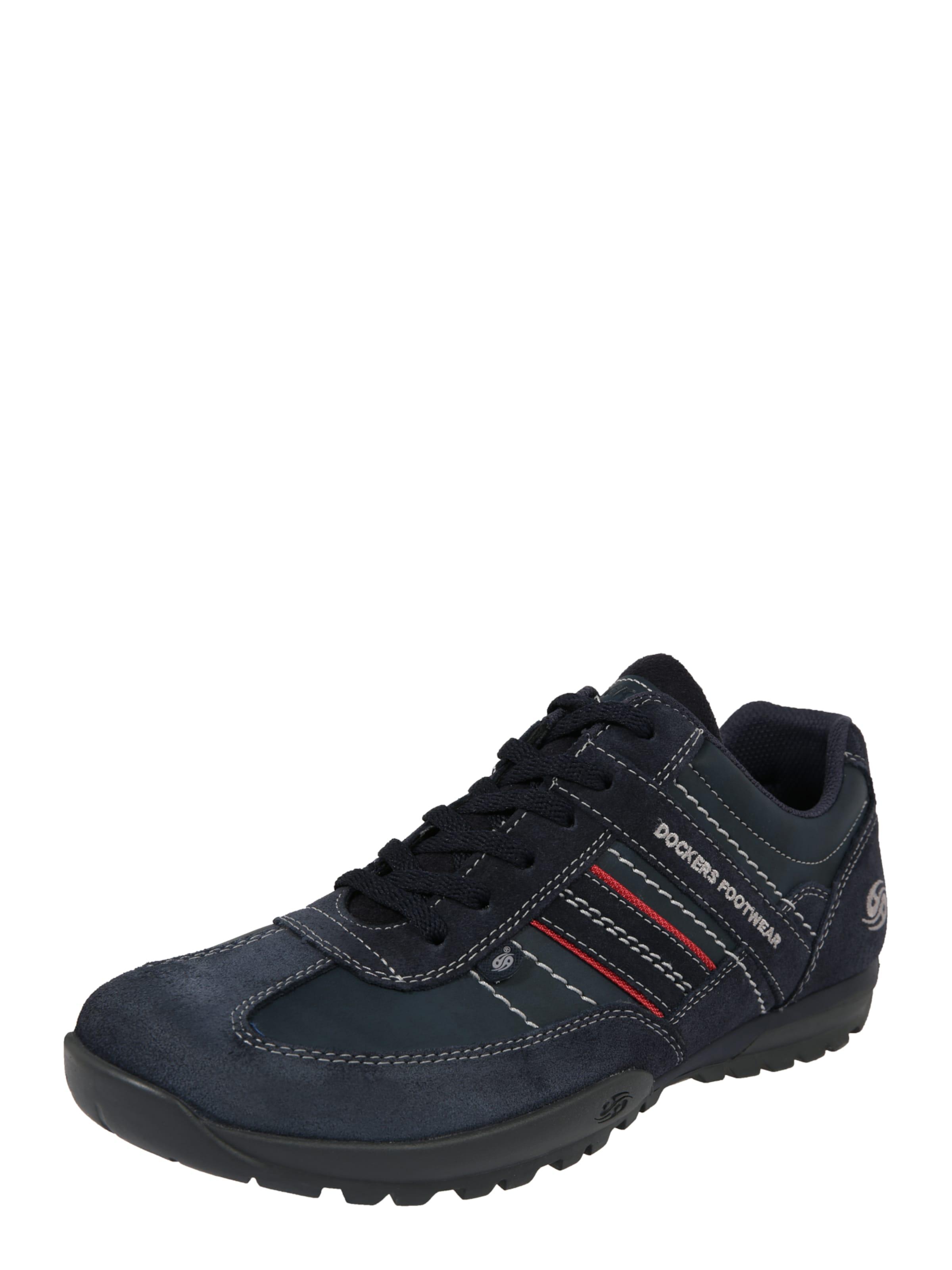 Dockers Gerli Sneaker By Weiß Rot In DunkelblauAnthrazit Y6ybfgv7