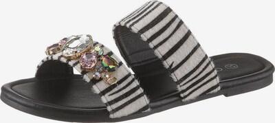 CITY WALK Pantolette in schwarz / offwhite, Produktansicht