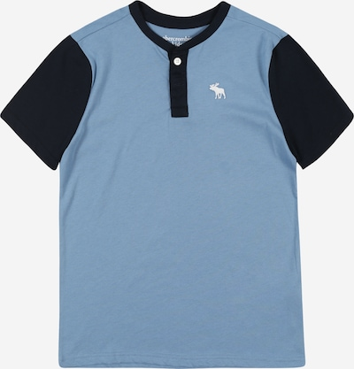 Tricou 'Henley' Abercrombie & Fitch pe albastru / albastru închis, Vizualizare produs