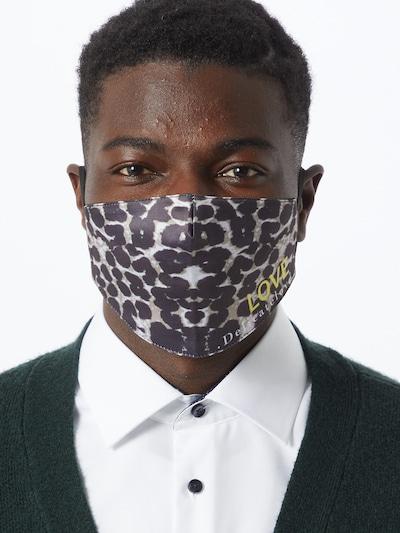 DELICATELOVE Stoffmaske 'LOVE' in dunkelbraun / schwarz: Frontalansicht
