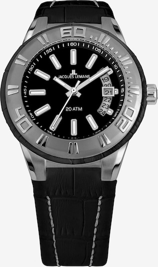 Jacques Lemans Uhr 'Miami 1-1770A' in schwarz / silber, Produktansicht