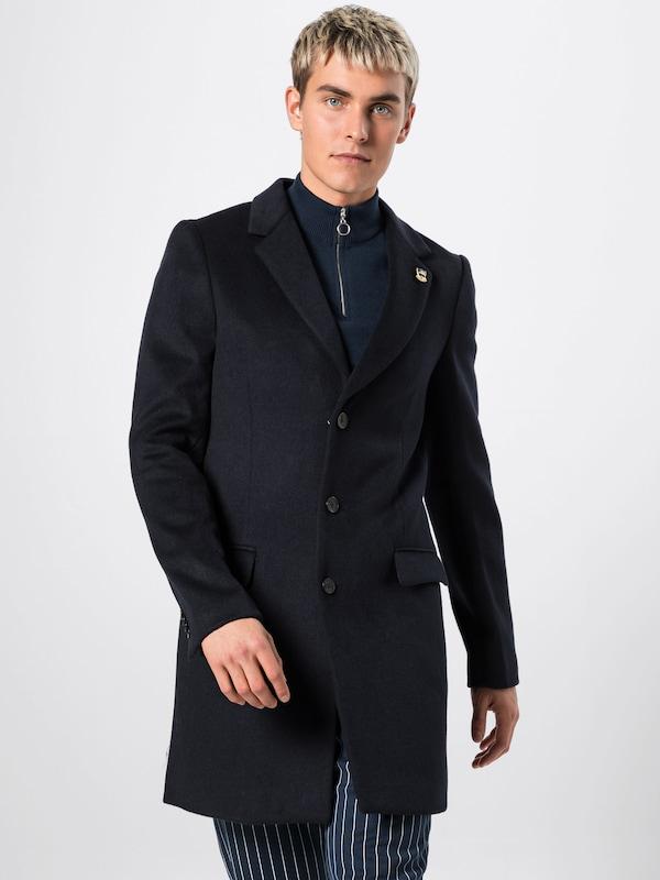 Blend Wool Nuit Soda Quality' En Coat saison button In Bleu 'classic 3 Scotchamp; Mi Manteau 5jLq34RA
