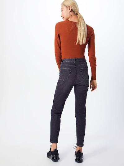 PIECES Jeans 'Leah' in black denim: Rückansicht