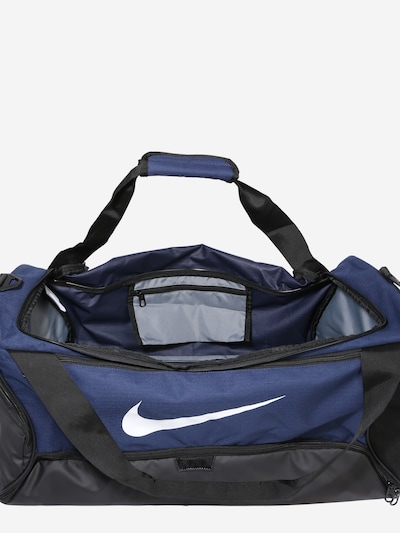 NIKE Sportovní taška 'BRSLA M DUFF - 9.0' - námořnická modř / bílá: Pohled shora