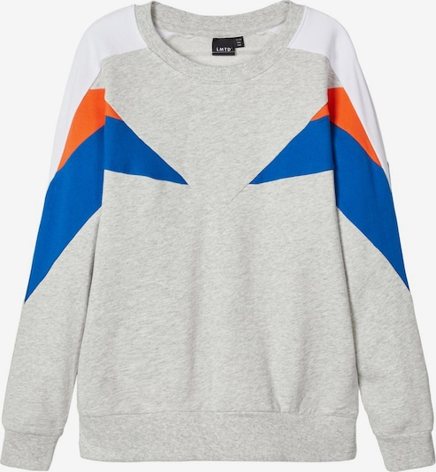NAME IT Sweatshirt in blau / grau / dunkelorange, Produktansicht