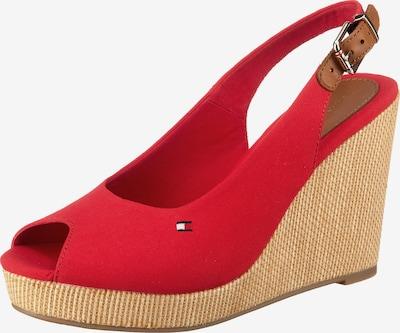 TOMMY HILFIGER Sandaletten in beige / rot, Produktansicht