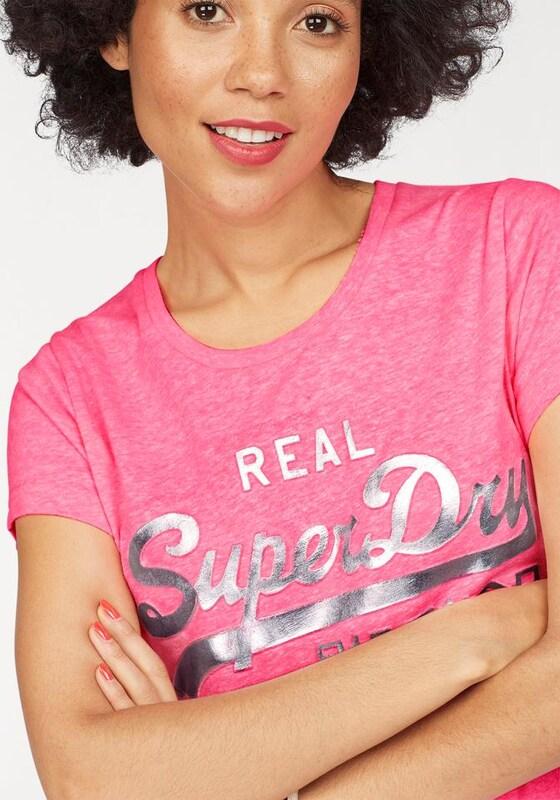 Superdry T-Shirt 'VINTAGE LOGO EMBOSSED FOIL TEE'