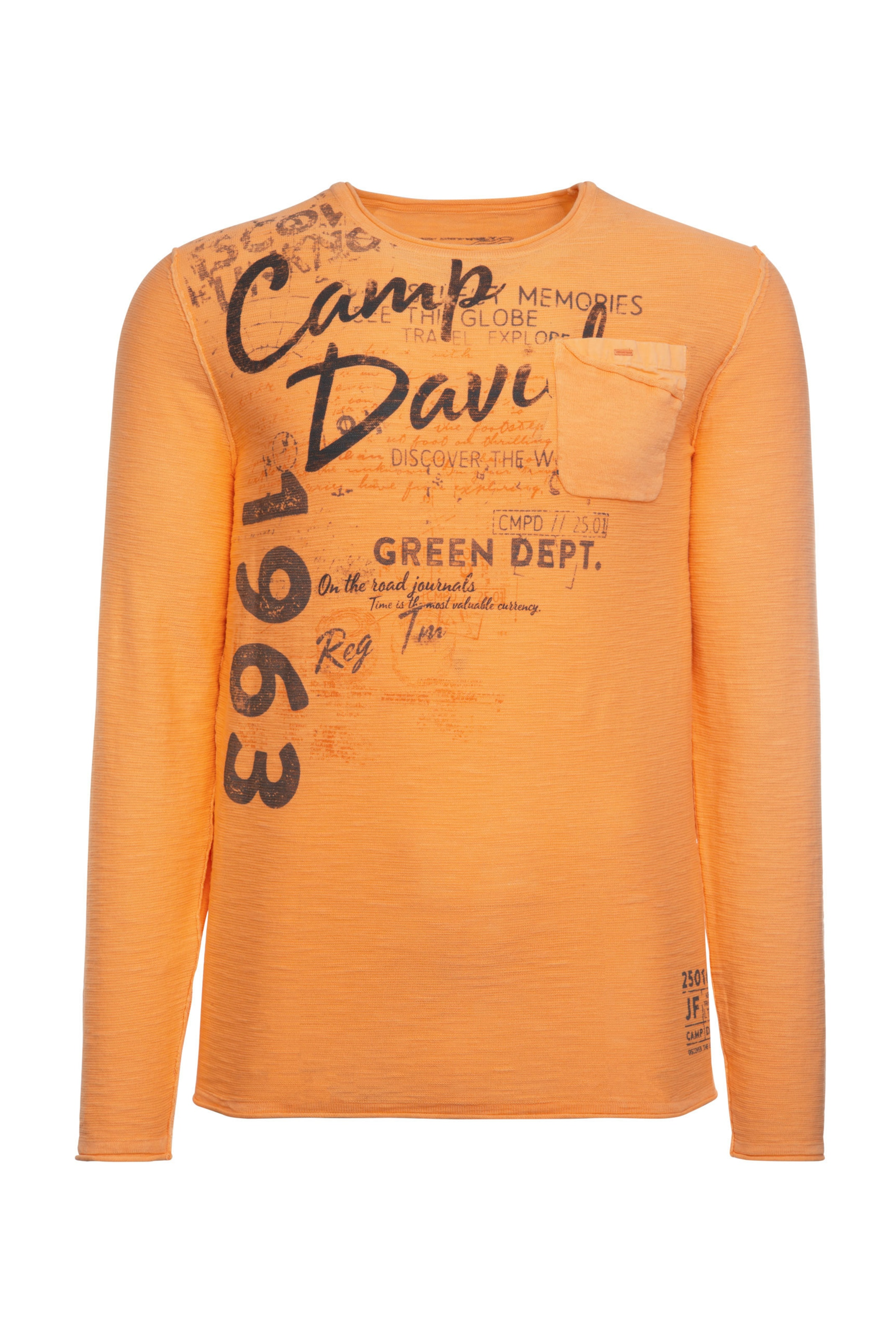 David Pullover Camp In OrangeSchwarz 0OnkNPXZ8w