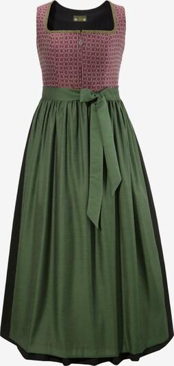 LOVE NATURE Kleid in hellgrün / pastellrot / schwarz, Produktansicht