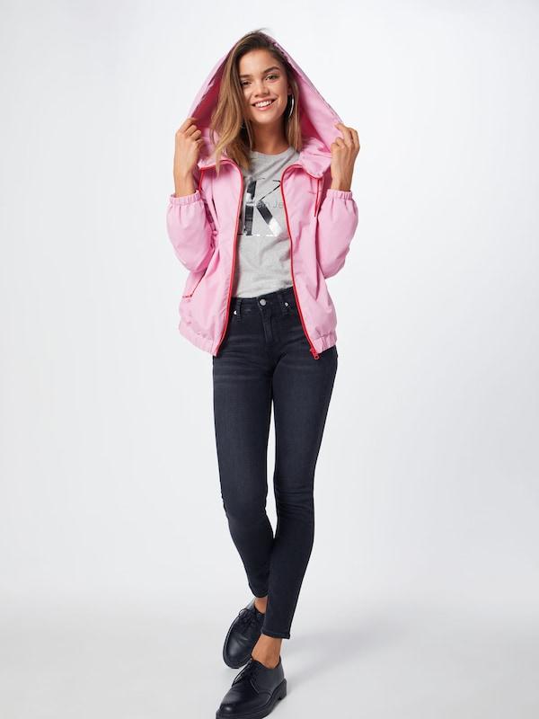 Klein Jeans Veste saison Windbreaker' En Calvin Mi RoseRouge 'nylon 4jqR5L3A