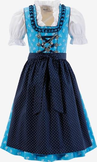 MARJO Dirndl in nachtblau / hellblau / weiß, Produktansicht