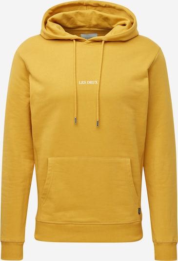 Les Deux Sweat-shirt 'Lens' en jaune / blanc, Vue avec produit