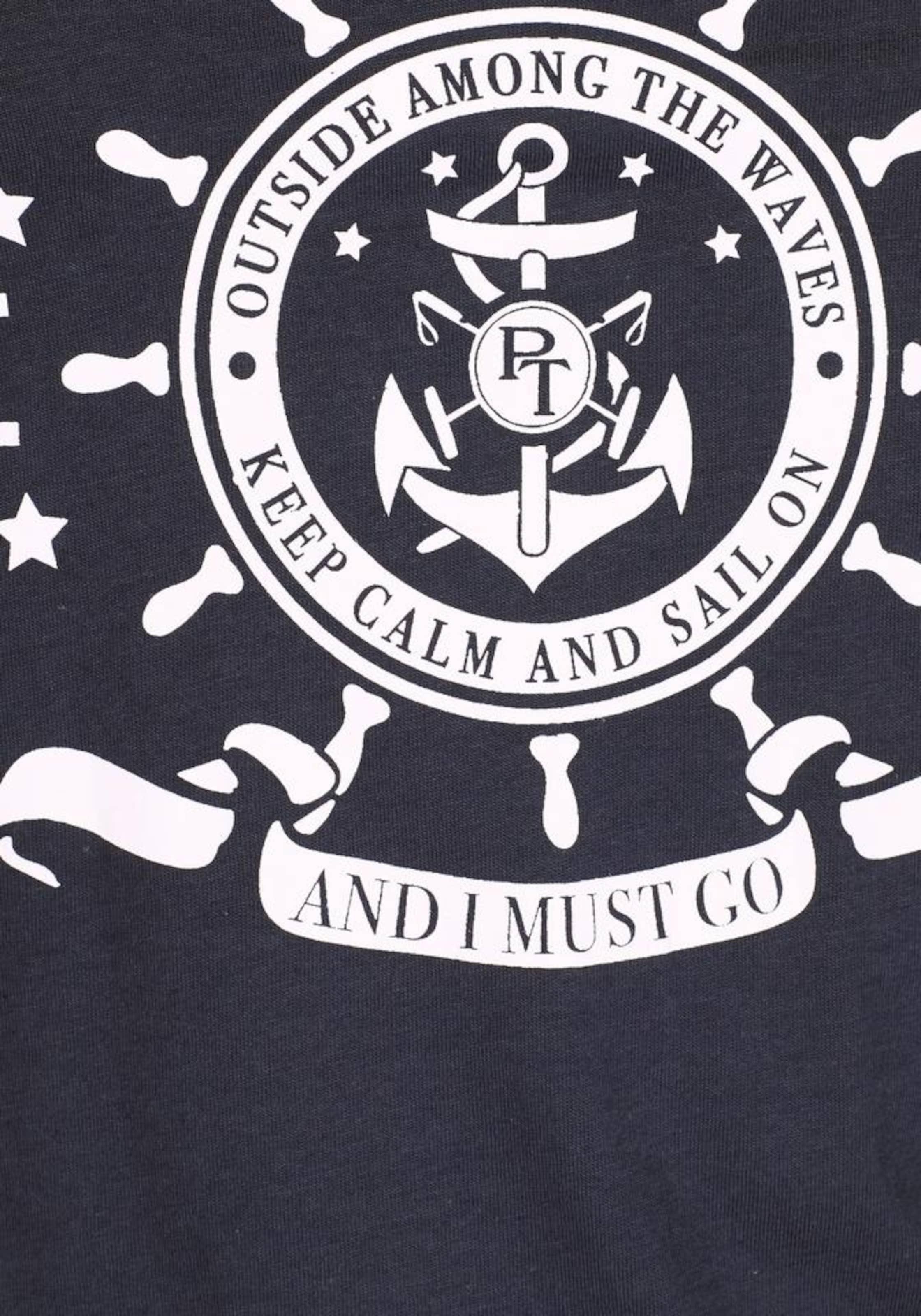 Tailor NavyWeiß In Team shirt Polo Tom T uXikPOZ
