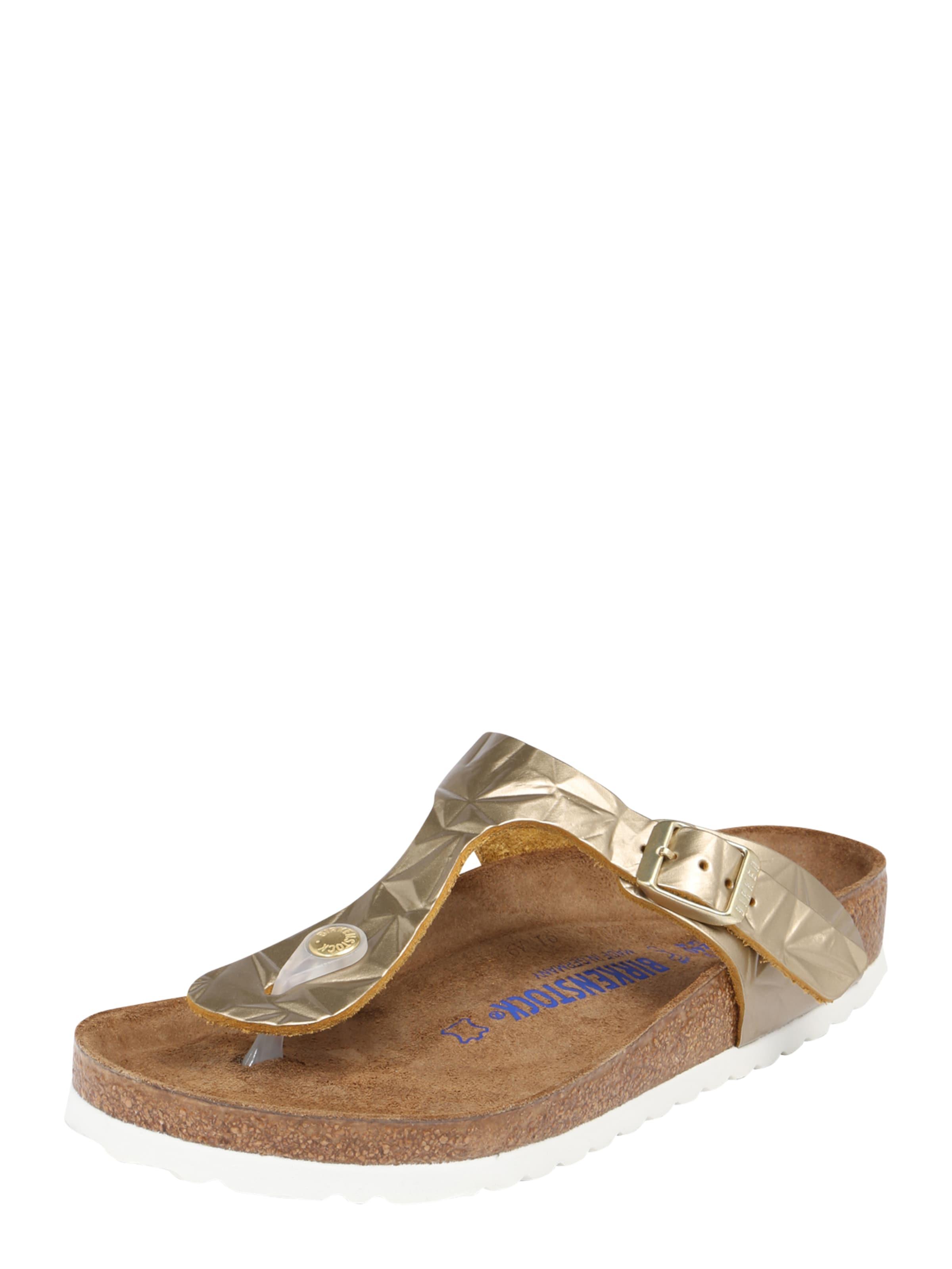 Birkenstock Sandales Or « Gizeh » rmMU6O0i