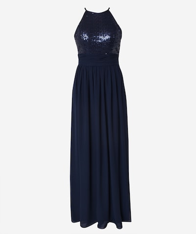 STAR NIGHT Kleid 'long dress (american cut) chiffon & sequins' in navy, Produktansicht