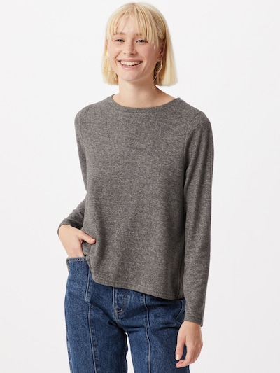 ONLY Pullover 'Mayea' in grau / schwarz: Frontalansicht
