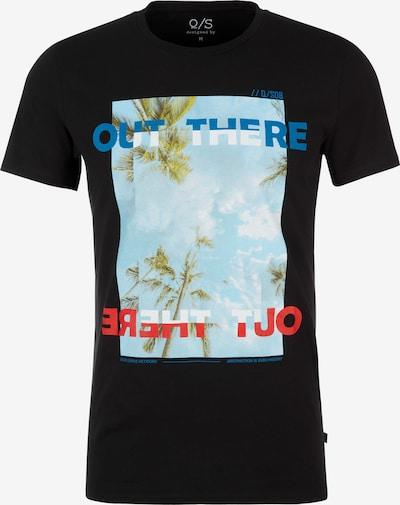 Q/S designed by T-Shirt in mischfarben / schwarz: Frontalansicht