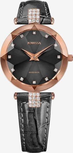 JOWISSA Quarzuhr 'Facet Strass' Swiss Ladies Watch in rosegold / anthrazit, Produktansicht