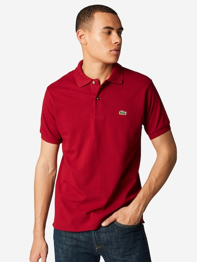 """LACOSTE Polo """"Basic"""" in bordeaux: Frontalansicht"""