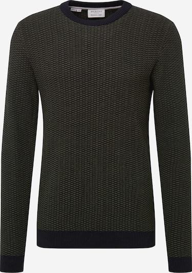 SELECTED HOMME Trui 'Haiden' in de kleur Donkergroen / Zwart, Productweergave