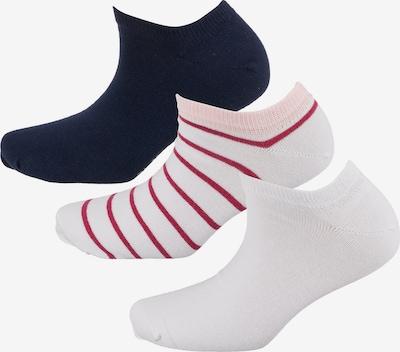TOM TAILOR Füßlinge in nachtblau / rosa / rot / weiß, Produktansicht