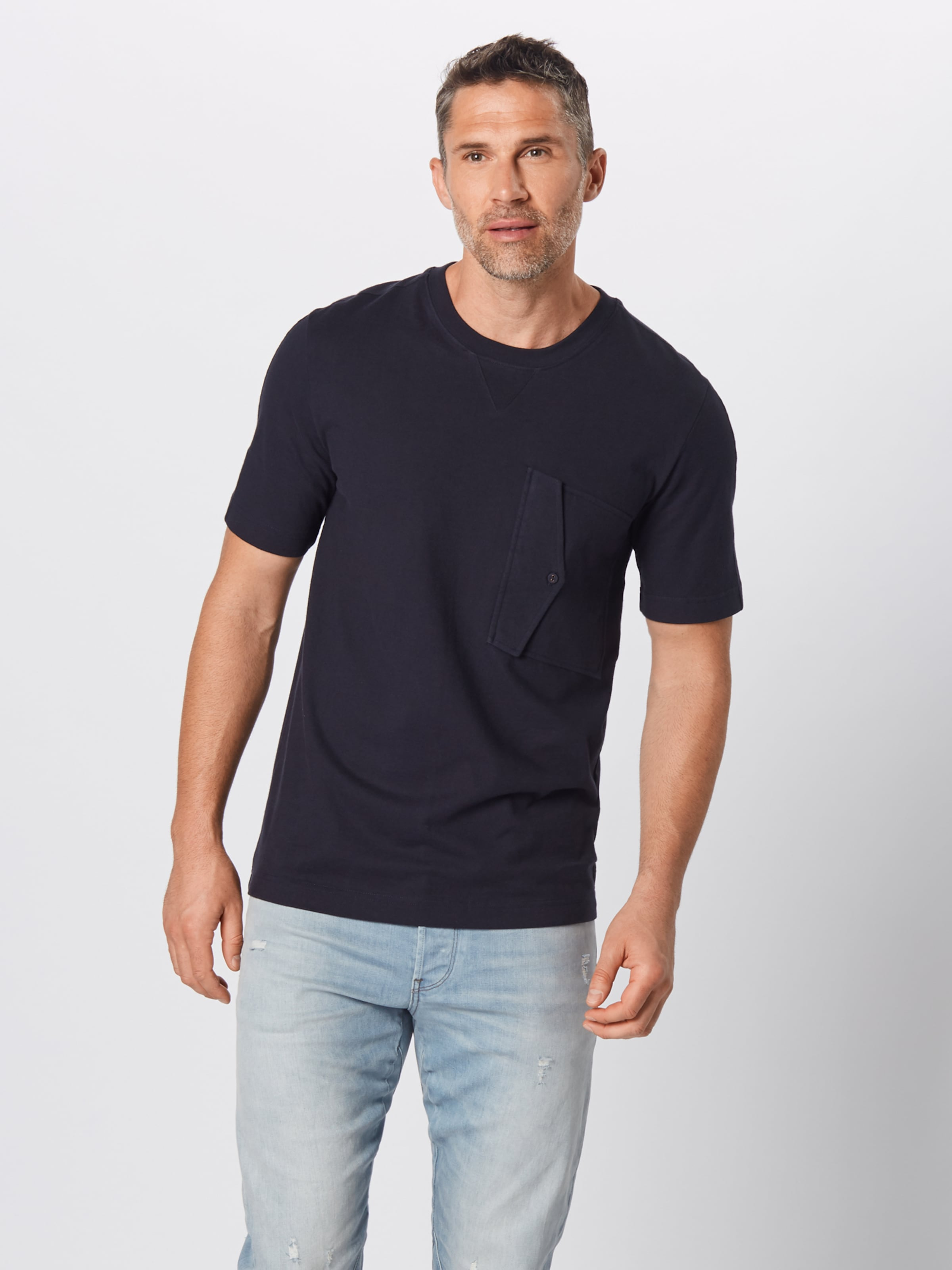 Ss' Dunkelblau Shirt Pocket T Raw 'korpaz R In G star 34q5RjAL