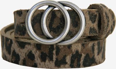 LEGEND Ledergürtel in beige / hellbraun / schwarz / silber, Produktansicht