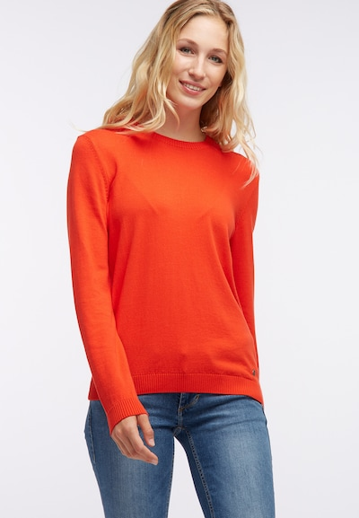 MUSTANG Pullover in orangerot: Frontalansicht