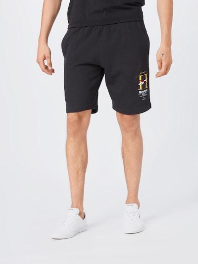 Reebok Classic Hose in gelb / schwarz / weiß, Modelansicht
