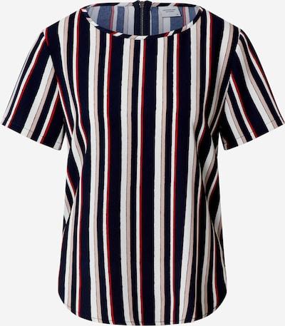 Bluză 'JDYROSIE S/S ZIP TOP WVN' JACQUELINE de YONG pe albastru închis / roșu orange, Vizualizare produs
