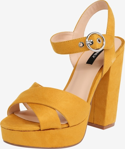 ONLY Sandale 'Allie Wide Crossed Heeled' in gelb, Produktansicht