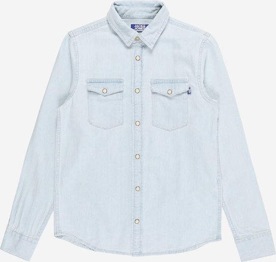 Jack & Jones Junior Hemd 'JJESHERIDAN' in blue denim: Frontalansicht