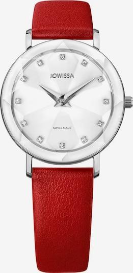 JOWISSA Quarzuhr 'Facet Swiss' in rot / weiß, Produktansicht